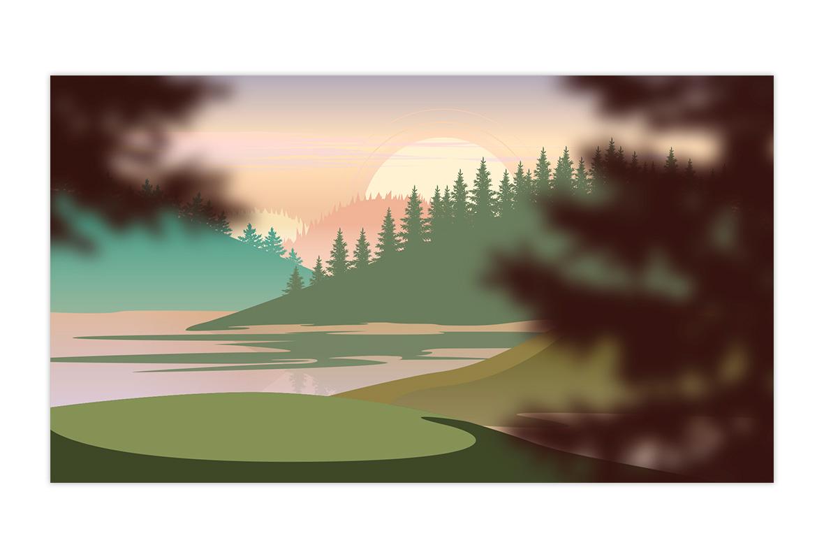 ilustración paisaje para vídeo corporativo